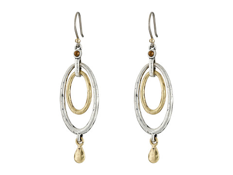 Lucky Brand Mary Jane Oval Orbital Earrings - Two Tone