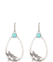 Lucky Brand - Mary Jane Dragonfly Oblong Hoop Earrings