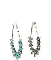 Lucky Brand - Mary Jane Turquoise Oblong Stone Hoop Earrings