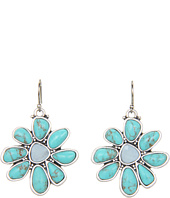 Lucky Brand - Mary Jane Turquoise Floral Drop Earrings