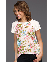 Pure & Simple - Carolina Top with Satin Print