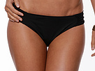 LAUREN Ralph Lauren - Mesh Solid Shirred Tab Hipster Bottom (Black)