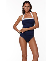 LAUREN Ralph Lauren - Bel Aire Solid Shirred Bandeau Mio Slimming Fit
