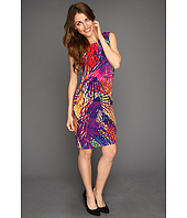 Ellen Tracy - Cap Sleeve Printed Jersey Dress