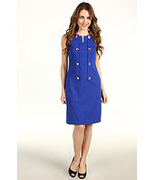Ellen Tracy - Nautical Sleeveless Sheath with Buttons