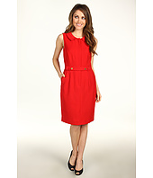 Ellen Tracy - Sleeveless Bi-Stretch with Collar and Buttons
