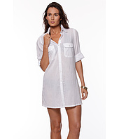 LAUREN Ralph Lauren - Crushed Cotton Cover-Up Camp Shirt