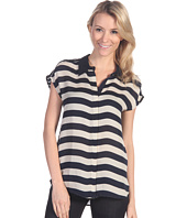 Michael Stars - Maldives Stripe S/S Button Up Top