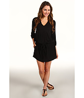 Michael Stars - Justine Split Neck 3/4 Sleeve Modal Jersey Dress
