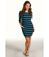 Michael Stars - Tatiana 3/4 Sleeve Stripe Dolman Modal Jersey Dress