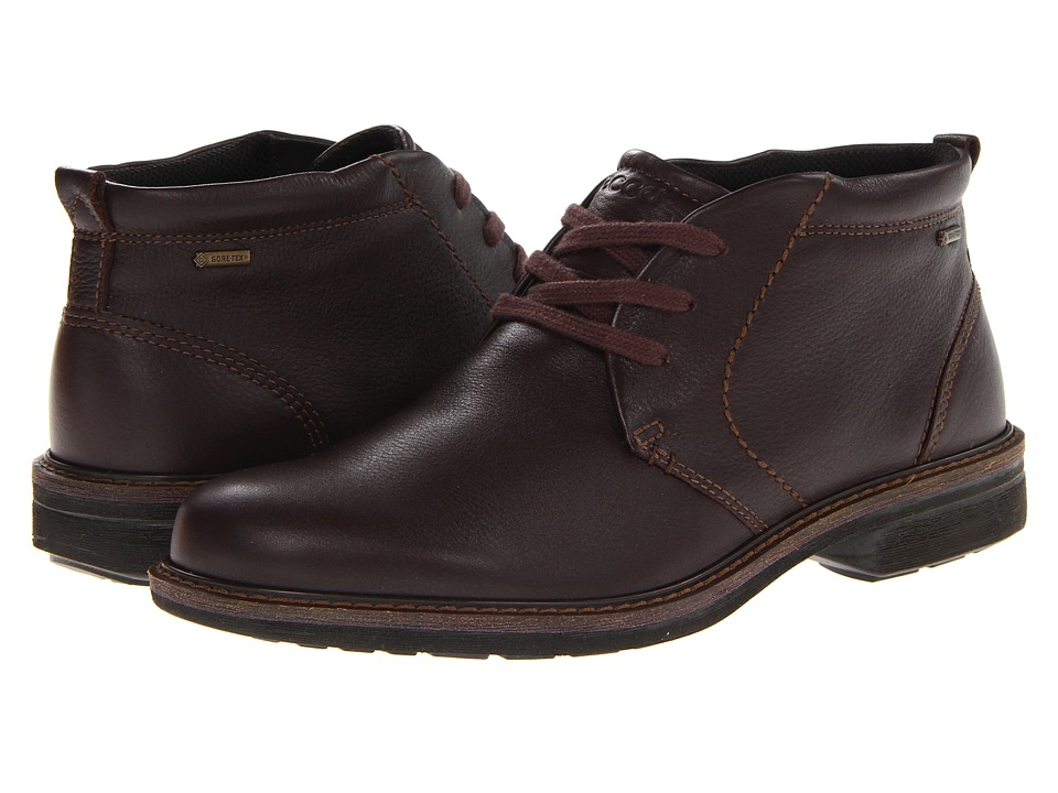 ECCO - Turn GTX Boot (Coffee Lexi) Mens Lace-up Boots