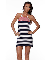 LAUREN Ralph Lauren - Regatta Striped High Neck Halter Dress