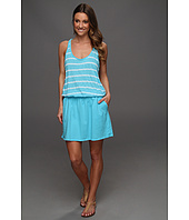 Michael Stars - Stripe Scoop Tow Tone Tank Dress