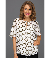 Michael Stars - Silk Polka Dot Peasant Top