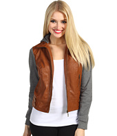 Gabriella Rocha - Patricia Jersey Sleeve Faux Leather Jacket