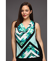 Calvin Klein - Plus Size Printed Cowl Neck Top