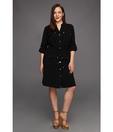 Plus size safari shirt dress for Made to measure dress shirts