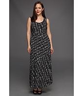 Calvin Klein - Plus Size Tweed Stripe Bias Cut Maxi Dress