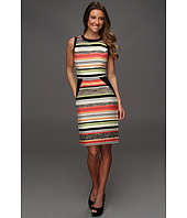 Calvin Klein - Vintage Stripe Color Blocked Sheath Dress