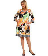 Calvin Klein - Plus Size Floral Shadows Printed Scoop Neck Dress