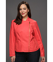 Calvin Klein - Plus Size Faux Leather Moto Jacket