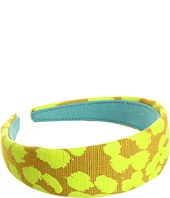 Juicy Couture - Leopard Jacquard Headband w/ Pop Color
