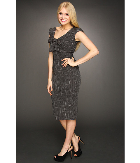 Stop Staring! for The Cool People - Caroline Fitted Dress (Dark Grey) - Apparel