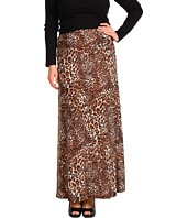 Christin Michaels - Plus Size Suzie Cheetah Maxi Skirt