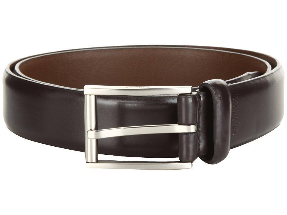 Calvin Klein 31MM Belt Dark Brown Mens Belts