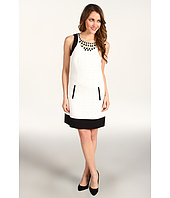 Laundry by Shelli Segal - Embellished Neckline Sheath Dress