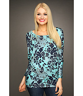 Christin Michaels - Rally Animal Print Top