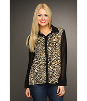 Christin Michaels - Shelah Cheetah Print Blouse