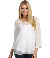 Christin Michaels - Haddie Lace Sequin Top