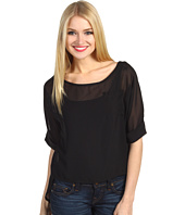 Christin Michaels - Benita Hi-Lo Chiffon Top