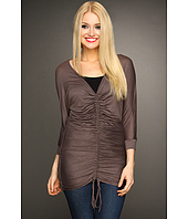Christin Michaels - Rae Rouched V-Neck Top