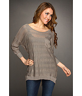 Christin Michaels - Kaci 3/4 Sleeve High-Low Sweater