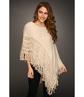 Christin Michaels - Tamara Cabled Poncho Sweater