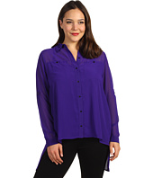 Kenneth Cole New York - Plus Size Blouse with Layered Back