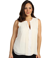 Kenneth Cole New York - Plus Size Pleated Front Tux Top