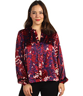 Kenneth Cole New York - Plus Size Printed Tuxedo Top