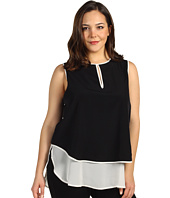Kenneth Cole New York - Plus Size Colorblock Double Layer Top