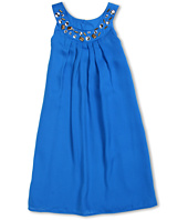 Us Angels - Chiffon Trapeze Dress w/ Bead Neckline (Big Kids)