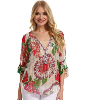 Hale Bob - Love Bugs and Crazy Daisies Lurex Silk Chiffon Blouse