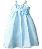 Us Angels - Empire Dress w/ Sash of Fabric Flowers (Little Kids)
