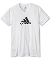 adidas Kids - Clima S/S V-Neck (Little Kids/Big Kids)
