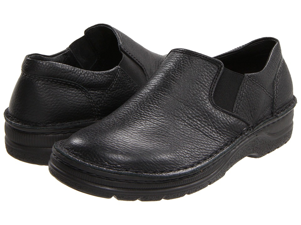 Naot - Eiger (Black Textured Leather) Mens Slip on  Shoes