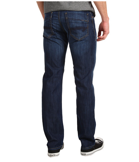 Mavi Jeans Zach Regular Rise Straight Leg in Dark Maui