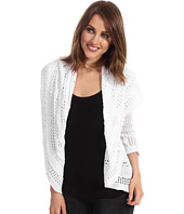 Autumn Cashmere - Pointelle Drape Cotton Cardigan