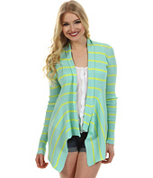 Autumn Cashmere - Striped Rib Drape Cardigan