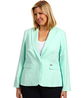 Calvin Klein - Plus Size One Button Colored Jacket